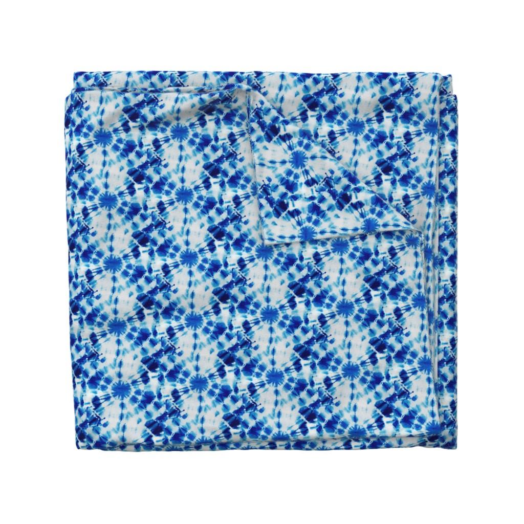 Wyandotte Duvet Cover featuring Ink Splat Indigo Tie Dye by creativeinchi