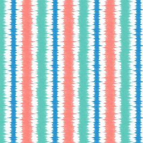 tie dye coral and teal vertical
