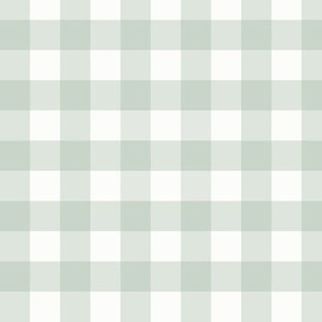 """.75"""" Gray Green Gingham: Pastel Green Gingham Check, Small Check"""