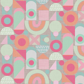 building blocks mint pink  orange with structure