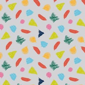 crayon colored geometric shapes - small scale