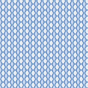 Diamond Stripe - Classic Blue
