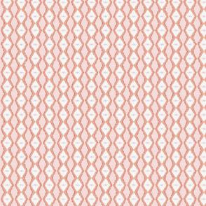 Diamond Stripe -Soft Coral