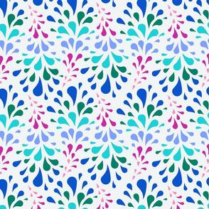 Color Splash - Light Gray, blue, green, pink, aqua