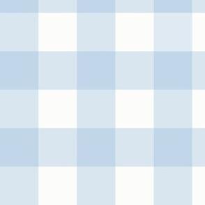 "1.5"" Powdery Blue Gingham: Soft Blue Gingham Check, Medium Check"