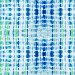 Indigo & Green Tie Dye Lines