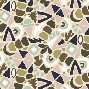 I Spy Terrazzo- Dusky Olive - Large Scale