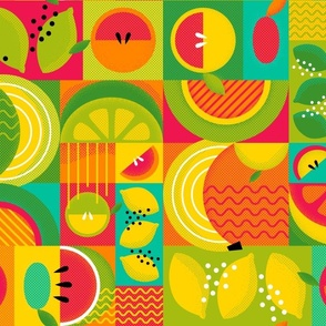 Geometric Summer Fruit