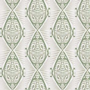 Kimbasa Light Sage Green, Gray, Ivory