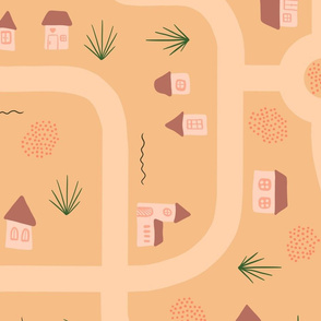 Roads and Tiny Houses - orange