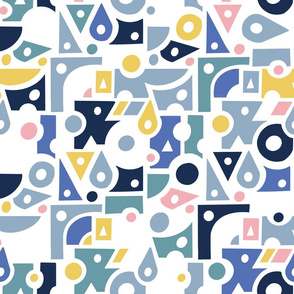 spots and dots in blue