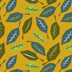 Geometric Leaves on Mustard