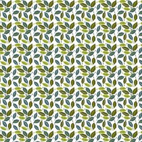 Geometric leaves on white