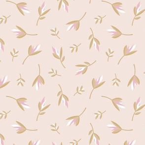 Birds of paradise flowers tropical boho summer garden hawaii island bikini vibes nursery beige pink cinnamon neutral SMALL