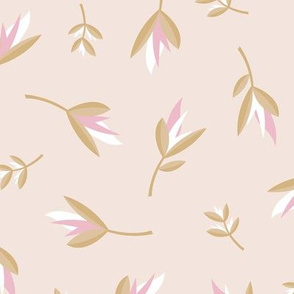 Birds of paradise flowers tropical boho summer garden hawaii island bikini vibes nursery beige pink cinnamon neutral