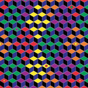Isometric Rainbow Diamonds