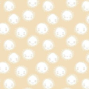 Sunshine little sunny day kawaii sun illustration minimal baby neutral Scandinavian nursery sky soft yellow