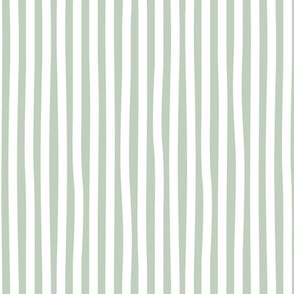 Irregular hand drawn stripes boho summer breton marine Parisian style minimal basic vertical sage green