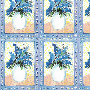 Mom's Blue Flowers in Vase