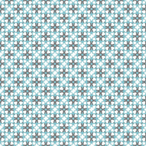 Quirky Ikat - Charcoal Turquoise