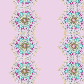 Pink floral mandalas
