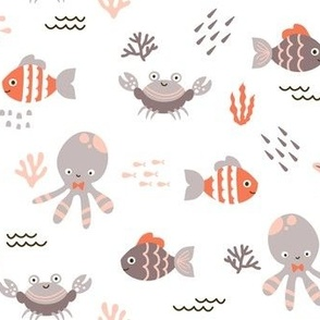Sea Creatures - Coral Gray