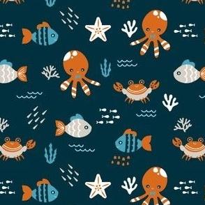 Sea Creatures - Deep Blue