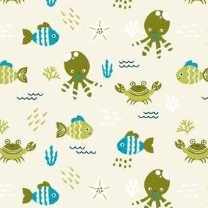 Sea Creatures - Moss Green