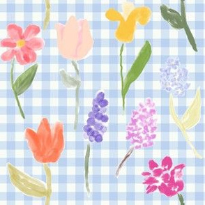It's Spring in Blue Gingham