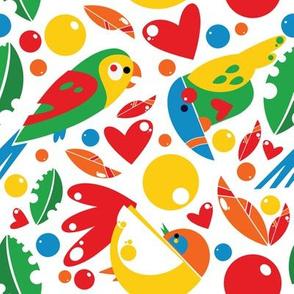 Paper Cut  Tropical Birds