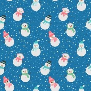 Penguin Arctic Animals Polka Dot Blue