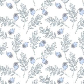 Poppy Leaves _ Seeds White