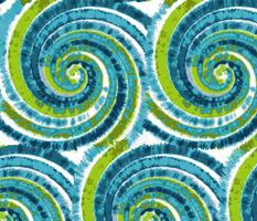 Hawaiian Ocean Waves Tie Dye