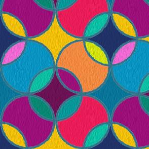 Jewel Tone Circles Textured