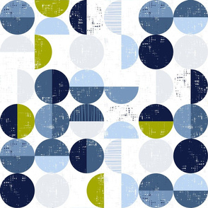 Geometric circles with textures