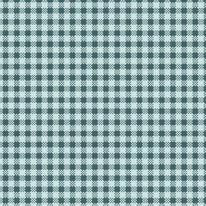 pine and mint gingham