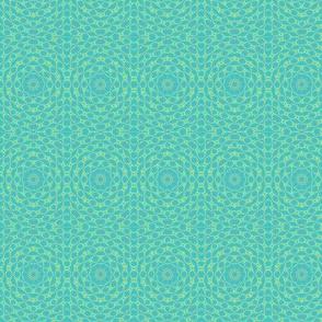 Green elegant classic  geometric pattern