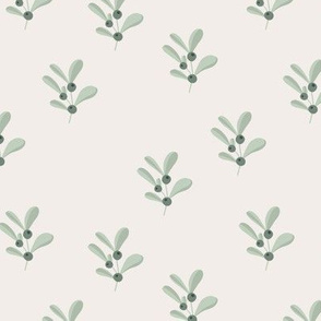 Little summer olive branch boho flower garden minimal Scandinavian design nursery sage green neutral