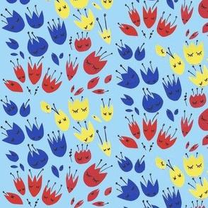 flower girls light blue