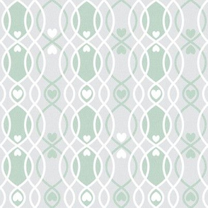 hearts curvy lines green cottage and farmhouse