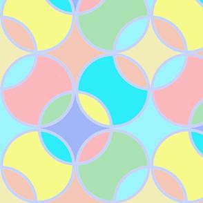 Pastel Spring Circles