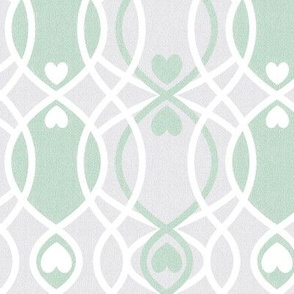 hearts twist green cottage and farmhouse