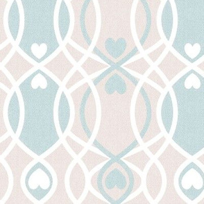 hearts twist pink cottage and farmhouse