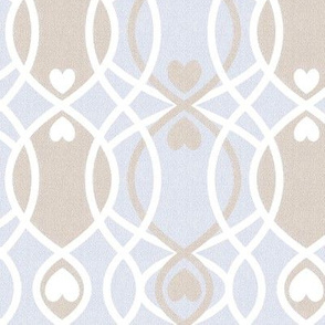 hearts twist blue cottage and farmhouse