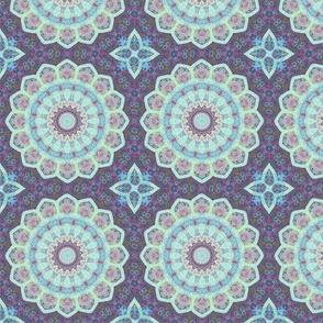 Multicolor boho mandala pattern