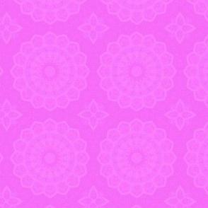 Vibrant pink boho mandala pattern