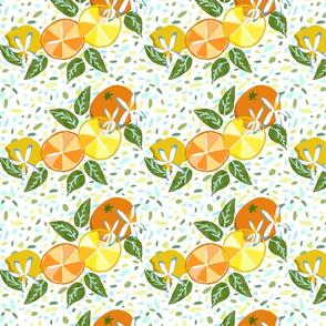 Citrus Paper Cutout on Terrazzo
