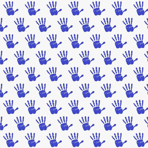 hand print blue