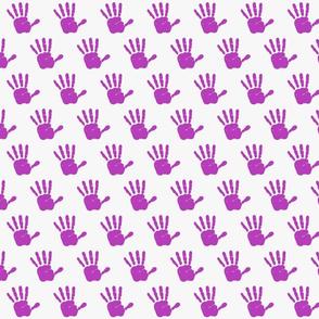hand print purple