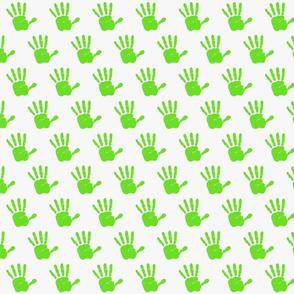 lime grn hand print